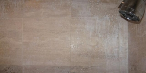 Acid Damaged Travertine Shower