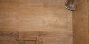 Restored Travertine Shower