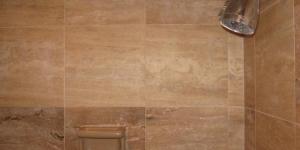 Restored Travertine Shower