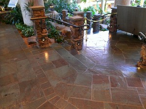 slate cleaning after